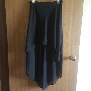 High-Lo Black Skirt